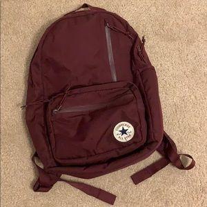 Maroon Converse Backpack